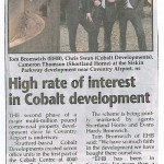 High rate of interest in Cobalt development